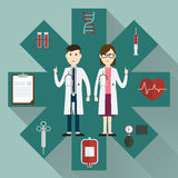 Medical doctors and icon Stock Images
