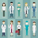 Medical doctors and icon Royalty Free Stock Photography