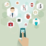 Medical doctors and icon Royalty Free Stock Photo