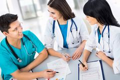 Medical doctors. Portrait of a smart young doctors works in a hospital Royalty Free Stock Image