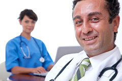 Medical doctors smiling Royalty Free Stock Images