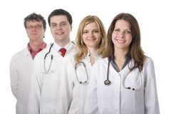 Medical doctors with stethoscopes Stock Photography