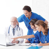 Medical doctors team using computer Royalty Free Stock Photography