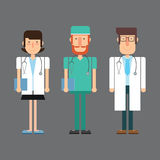 Medical doctors. Vector illustration Royalty Free Stock Photography