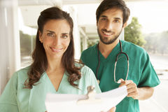 Medical doctors working Stock Image