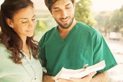 Medical doctors working Stock Images
