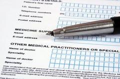 Medical Document. Stock Photo