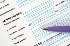 Medical Document. Royalty Free Stock Photo