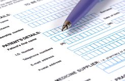 Medical Document. Royalty Free Stock Images