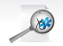 Medical document with a Stethoscope Royalty Free Stock Photo