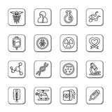 Medical Doodle Icons Stock Image