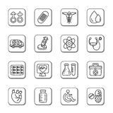 Medical Doodle Icons. A collection of different kinds of medical doodle icons. It contains hi-res JPG, PDF and Illustrator 9 files Royalty Free Stock Images