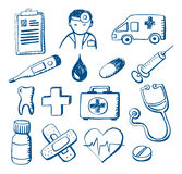 Medical Doodles Stock Photos