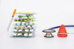 Medical drug and medical tool Royalty Free Stock Image