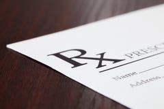 Medical drug prescription on table - studio shot Stock Photography