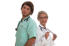 Medical duet Royalty Free Stock Photos