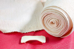 Medical elastic tensor bandage with reflection  with Cherry colo Stock Photography
