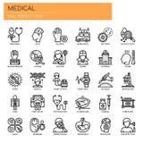 Medical Elements , Pixel Perfect Icons. Medical Elements , Thin Line and Pixel Perfect Icons Royalty Free Illustration