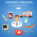 Medical emergency ambulance concept Royalty Free Stock Image