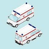 Medical emergency assistance. Flat isometric. Stock Image