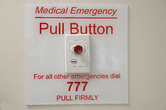 Medical Emergency call point. Royalty Free Stock Images