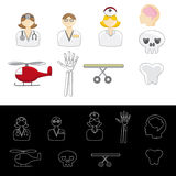 Medical Emergency Icons Stock Photography