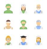 Medical employee icon set Stock Photo