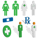 Medical and EMS icons Stock Images