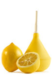 Medical enema. And lemons, diet and Medical concept Stock Photo