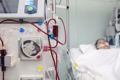 Medical equipment for blood dialysis of a seriously ill patient