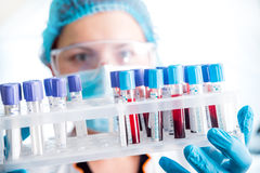Medical equipment. Blood test background Stock Photos