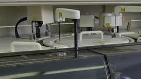 Medical equipment for blood test and DNA analysis in biological laboratory. stock video footage