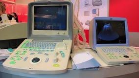 Medical equipment in doctors room stock video