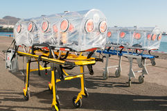 Medical equipment for ebola or virus pandemic Royalty Free Stock Image