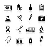 Medical Equipment Icon Black Stock Image