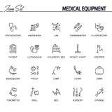 Medical equipment icon set Stock Photos