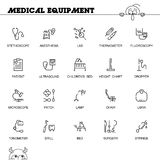 Medical equipment icon set Royalty Free Stock Photography