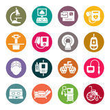 Medical equipment icons Royalty Free Stock Photos