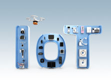 Medical equipment in IoT word Stock Photo