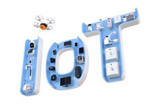 Medical equipment in IoT word Stock Photos