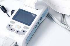 Medical equipment for the measurement of ECG royalty free stock images