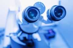 Medical equipment microscope in a laboratoryResearch, medicine, Stock Photography