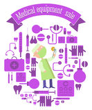 Medical equipment sale Stock Photos