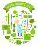 Medical equipment sale Royalty Free Stock Photography