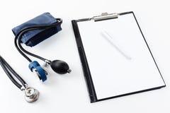 Medical equipment - stetoscope and tonometer Stock Image