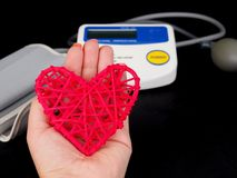Medical equipment to check hart health, Manual blood pressure sphygmomanometer.  royalty free stock image
