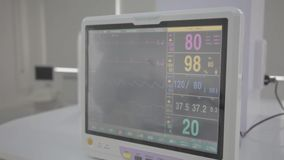 Medical equipment. Ultrasound machine in a modern operating laboratory. Ultrasound machine in a modern operating laboratory stock video footage