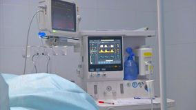 Medical equipment. Ultrasound machine in a modern operating laboratory. Ultrasound machine in a modern operating laboratory stock video
