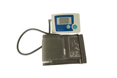 Medical equipment. On a white background. Type digital blood pressure monitor Royalty Free Stock Images