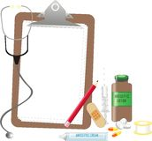 Medical equipments. An illustration showing medical equipments Stock Photo